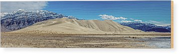 Wood Print featuring the photograph Eureka Dunes - Death Valley by Peter Tellone