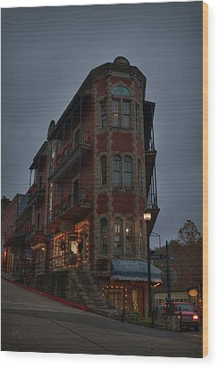Wood Print featuring the photograph Eureka Springs - Flatiron Flats 001 by Lance Vaughn