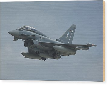 Wood Print featuring the photograph Eurofighter Ef2000 by Tim Beach