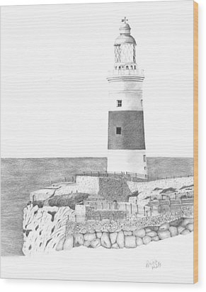 Europa Point Lighthouse Wood Print