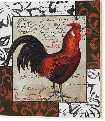 Europa Rooster II Wood Print by Mindy Sommers