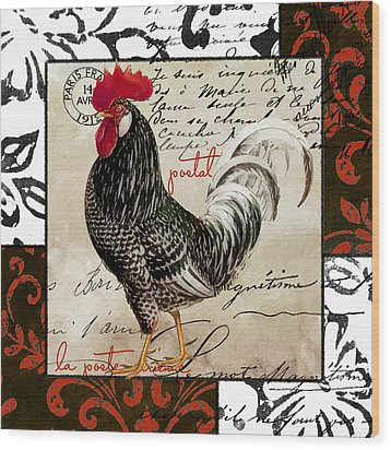 Europa Rooster IIi Wood Print by Mindy Sommers