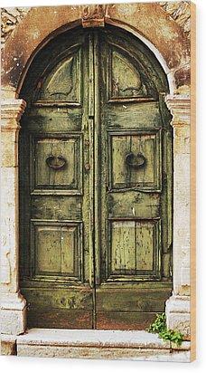 European Door II Wood Print by Jason Evans