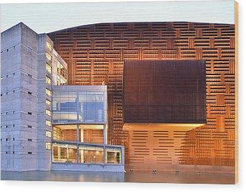 Wood Print featuring the photograph Euskalduna Center Bilbao Spain by Marek Stepan