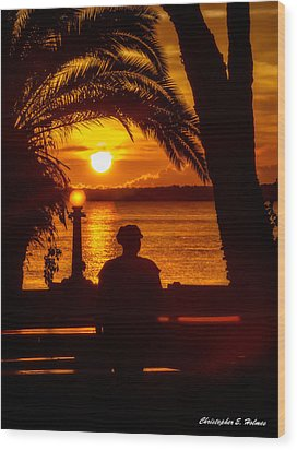 Wood Print featuring the photograph Eustis Sunset by Christopher Holmes