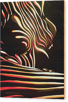 Eve Wood Print by Lelia DeMello