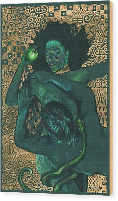 Wood Print featuring the painting Eve by Ragen Mendenhall