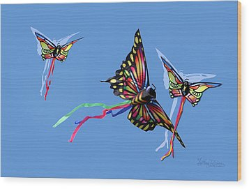 Even Butterflies Have Guardian Angels Wood Print by Anthony R Socci