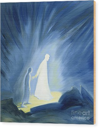 Even In The Darkness Of Out Sufferings Jesus Is Close To Us Wood Print by Elizabeth Wang