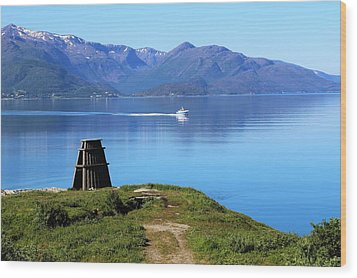 Evenes, Fjord In The North Of Norway Wood Print