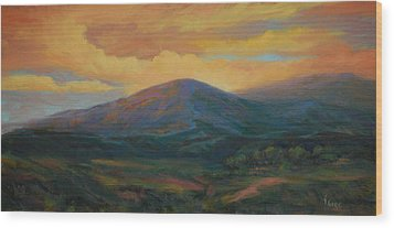 Evening Ablaze Wood Print by Gary Gore