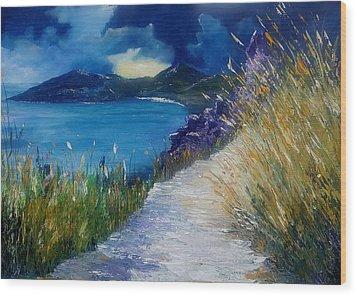 Evening At Keem Bay Co Mayo Wood Print