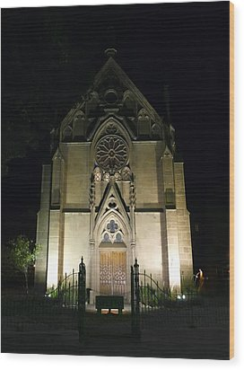 Wood Print featuring the photograph Evening At Loretto Chapel Santa Fe by Kurt Van Wagner