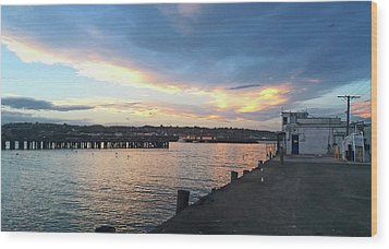 Wood Print featuring the photograph Evening At The Bay by Nareeta Martin