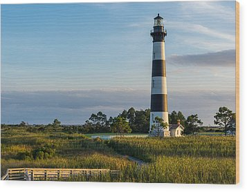 Evening At The Lighthouse Wood Print