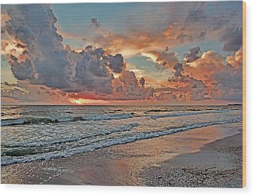 Wood Print featuring the photograph Evening Clouds by HH Photography of Florida