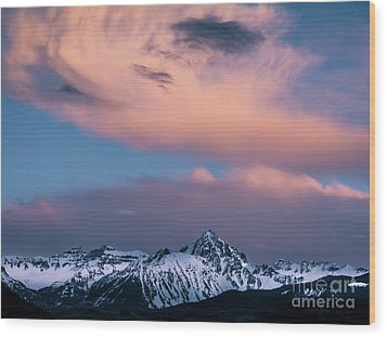 Wood Print featuring the photograph Evening Clouds Sneffels Range by The Forests Edge Photography - Diane Sandoval