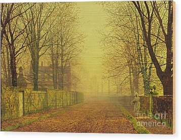 Evening Glow Wood Print by John Atkinson Grimshaw