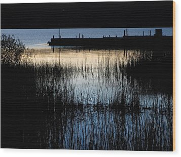 Evening Glow Wood Print by Mary Wolf