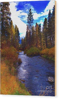 Evening Hatch On The Metolius River Photograph Wood Print by Diane E Berry