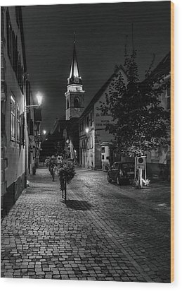 Evening In Bergheim Wood Print by Alan Toepfer