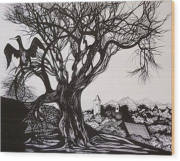 Evening In Midnapore Wood Print by Anna  Duyunova