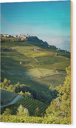 Wood Print featuring the photograph Evening In Piemonte by Brian Jannsen