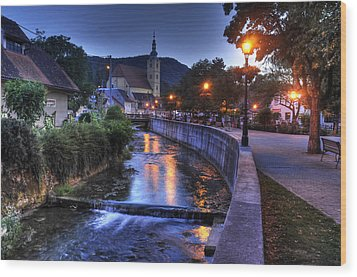 Evening In Samobor Wood Print by Don Wolf