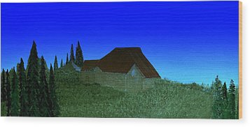 Evening In Vevey Wood Print by Bill OConnor