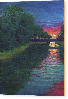 Evening, Lagan Lake Reflections Wood Print by Vernon Reinike