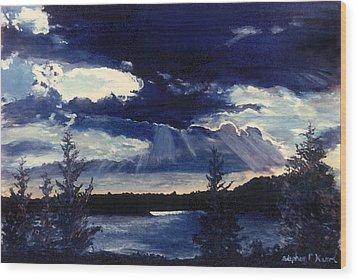 Evening Lake Wood Print