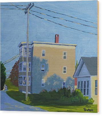 Evening Light Northern Avenue Wood Print by Laurie Breton