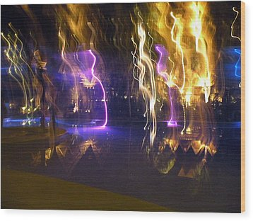 Wood Print featuring the photograph Evening Light Show At The Grand Mayan by Dianne Levy