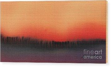 Evening Mist Wood Print by Addie Hocynec