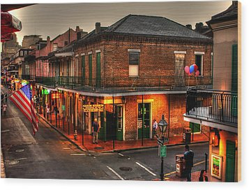 Evening On Bourbon Wood Print by Greg and Chrystal Mimbs