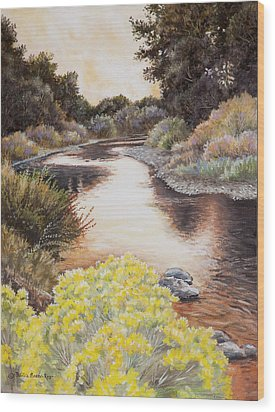 Evening On The John Day River Wood Print