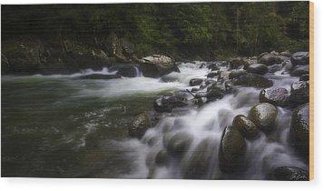 Evening On The Sarapiqui River Wood Print