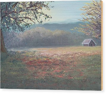 Evening Pasture Wood Print by Patti Gordon