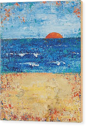 Wood Print featuring the painting Evening Promise by Chris Rice