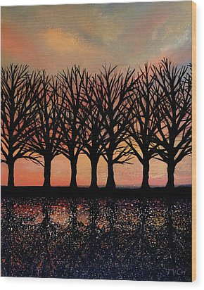 Evening Reflections Wood Print