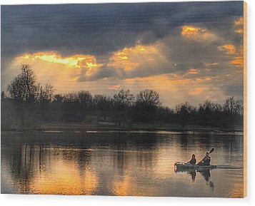 Evening Relaxation Wood Print by Sumoflam Photography