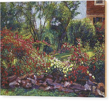 Evening Roses Wood Print by David Lloyd Glover