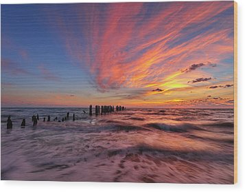 Wood Print featuring the photograph Evening Rush by Mike Lang