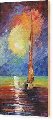 Evening Sail Wood Print by Ash Hussein
