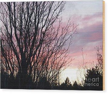Evening Sky - October 27 Wood Print by Jackie Mueller-Jones