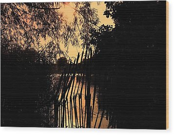 Wood Print featuring the photograph Evening Time by Keith Elliott