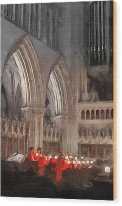 Evensong Practice At Wells Cathedral Wood Print