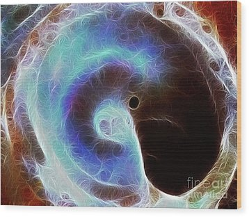 Event Horizon Wood Print by Wingsdomain Art and Photography