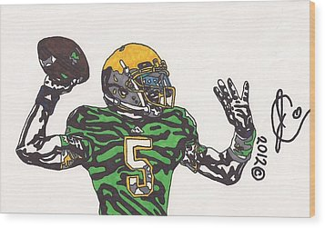 Everett Golson 1 Wood Print by Jeremiah Colley