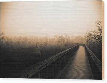 Wood Print featuring the photograph Everglades Boardwalk by Gary Dean Mercer Clark